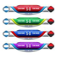 Tableau de bord des éléments de conception pour le football et le football