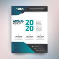 Annual report template, Abstract design with green tone