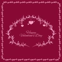 Hermoso fondo con marco ornamental para el día de san valentín.