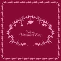Beautiful background with ornamental frame for valentine´s day