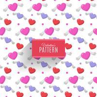 Naadloos patroon van harten