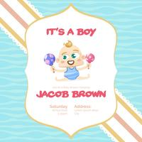 It's a boy baby shower background