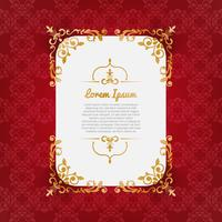 Maroon background with gold ornaments