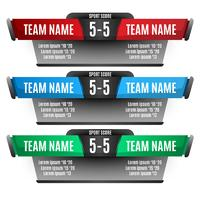 Scoreboard elements design for football and soccer