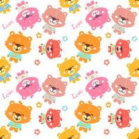 Colorful teddy bear pattern
