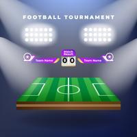 Vector van voetbalteam met scorebord