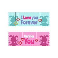 Valentine sticker collectie