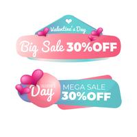 Badge de vente Saint Valentin