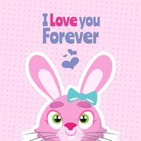 Alla hjärtans dag kanin i kärlek bakgrund