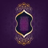 Gratulationskort gyllene etniska mönster