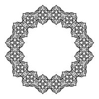 Patrón barroco circular