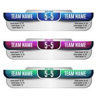 Design de elementos de placar para futebol e futebol