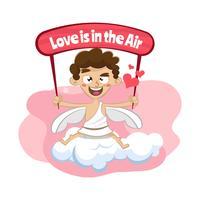 Fundo de dia dos namorados de Cupido