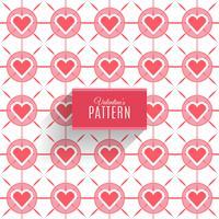 Nahtloses Muster der Herzen