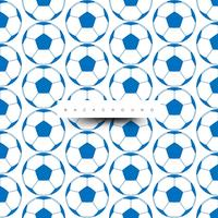 Seamless pattern of big soccer balls, blue on white