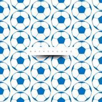 Nahtloses Muster von großen Fußbällen, blau auf Weiß