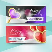 Valentinstag-Verkauf Banner