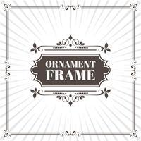 vector image decorative ornamental frame