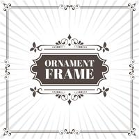 marco ornamental de imagen vectorial