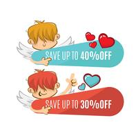 Valentine's sale with cupid