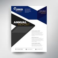 Annual report template, Abstract design with blue tone