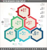 Vector infographic design template colorful design
