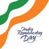 Conceito de dia da República da Índia