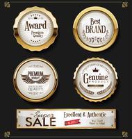 Super venta retro vintage etiquetas vector colección