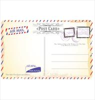Postcard vector in air mail style