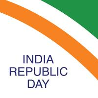 Concept de fête de la république indienne