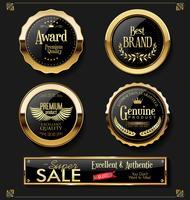 Collection de vecteurs étiquettes vintage rétro super vente