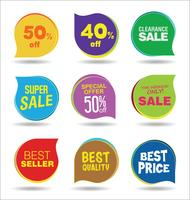 Modern badges stickers and labels collection