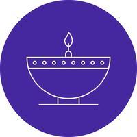 vector diwali lamp pictogram