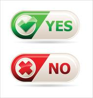 Yes and no sign of product quality and choice collection vector