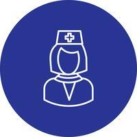 Icona di vettore femminile medico