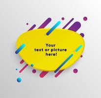 De fundo Vector com cartão de papel e formas coloridas abstratas