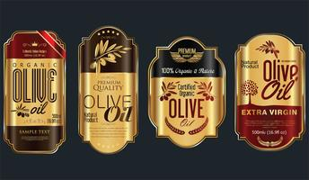 Retro vintage golden olive oil background collection