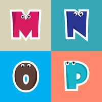 Alphabet Cartoon Font For Kids