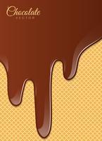 Flytande choklad eller brunfärg. Vektor illustration.