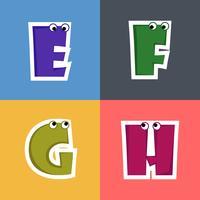 Alfabet Cartoon lettertype voor kinderen