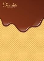 Flüssige Schokolade oder braune Farbe. Vektor-Illustration