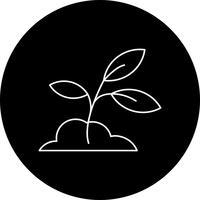 icône de plante de sol de vecteur