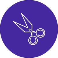 Vector icono de tijera
