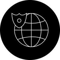 icono de vector globo