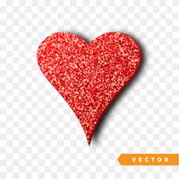 Corazón rojo destellos