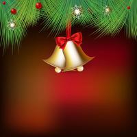 Fundo de Natal feliz com ornamentos em estilo realista