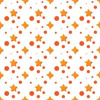 Pattern with star and circle. Orange color