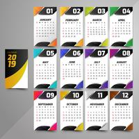 Anno 2019, Calendar Beautiful Design