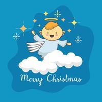 Angel lindo con estrella de navidad