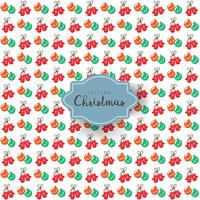 Seamless vector pattern Christmas ball and gloves